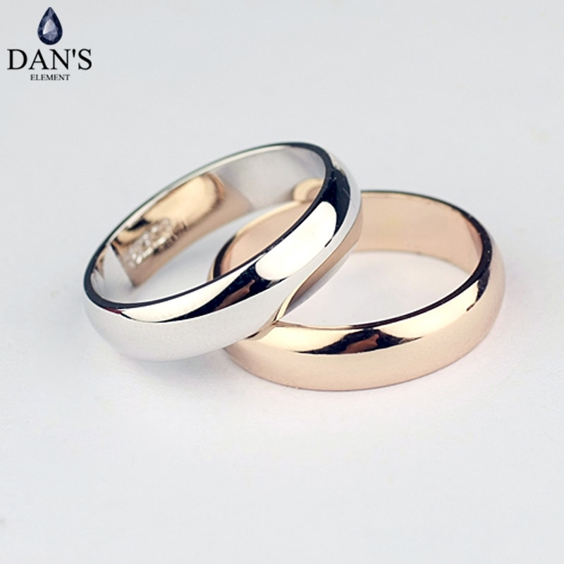 Dan S Element Brand Real Round Simple Couple Copper Gold Color Fashion Wedding Rings For Women Healthy Top Quality Fi Rg90696 Nana S Corner Beauty Cosmetic