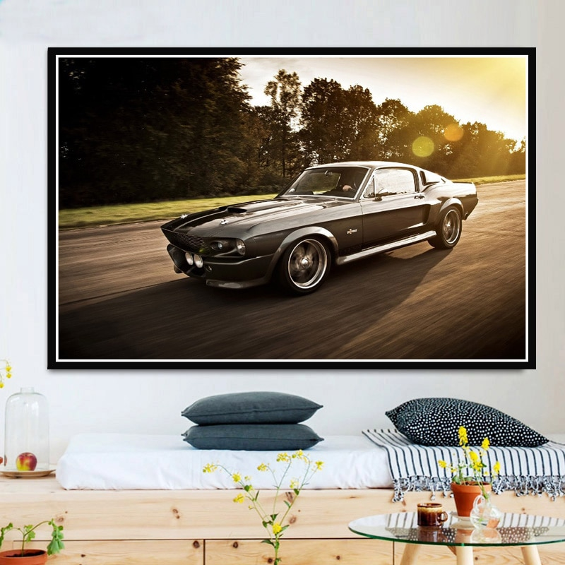Ford Mustang Eleanor Car 5 Pieces Canvas Wall Art Poster Print Home Decor