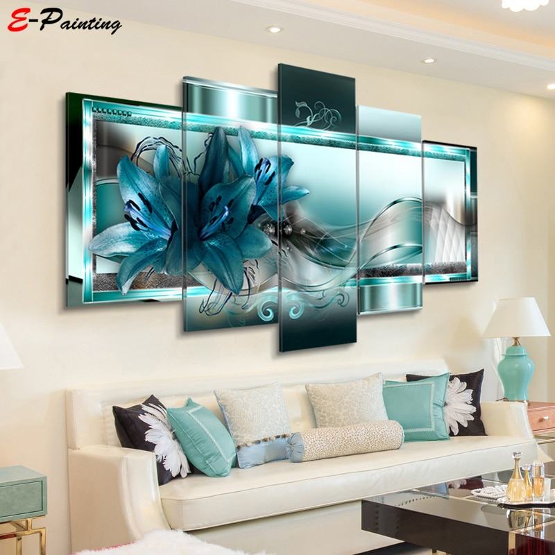 Modern Canvas Painting 5 Pieces Wall