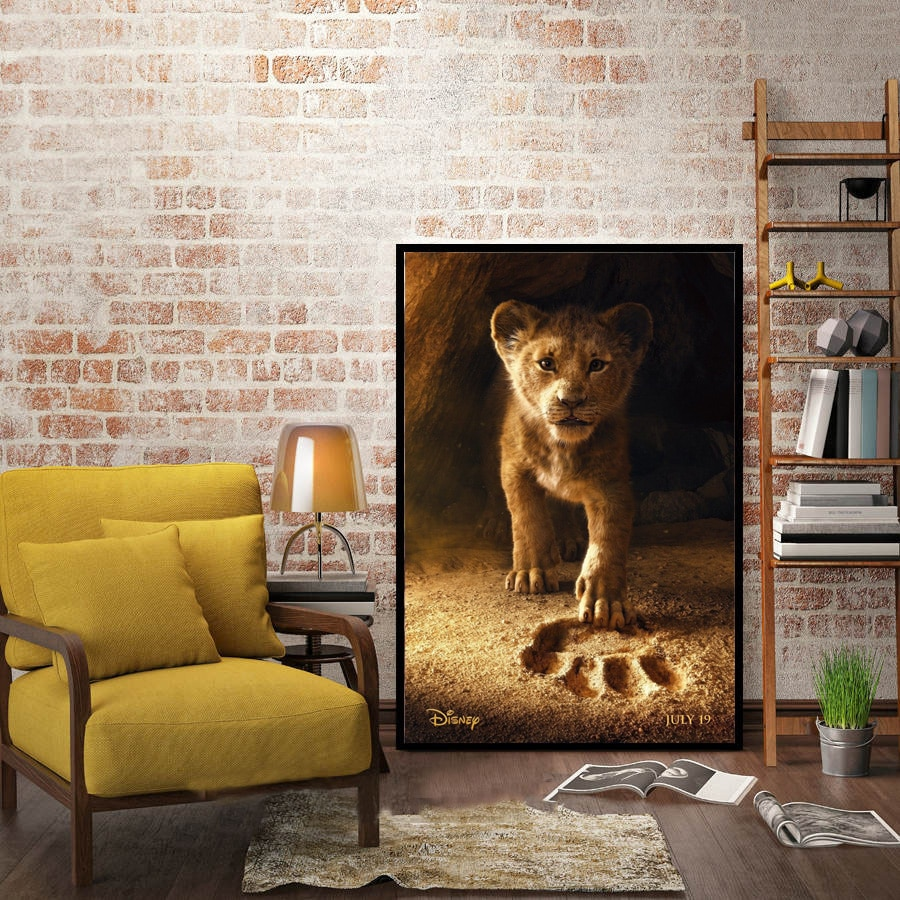 The Lion King 2019 Movie Film Cartoon Poster And Prints Wall Art Painting Canvas Wall Pictures For Living Room Home Decor